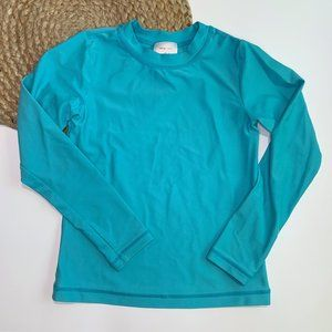 Hanna Andersson Long Sleeve Rash Guard Blue Size 8